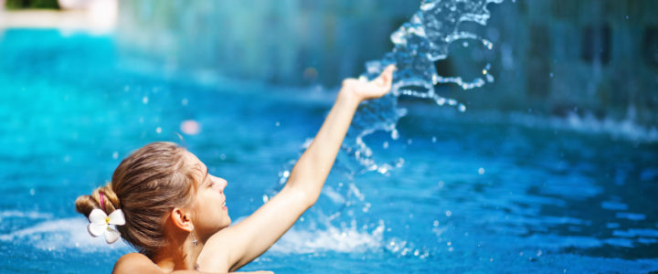 An exercise for overcoming fear of water and swimming