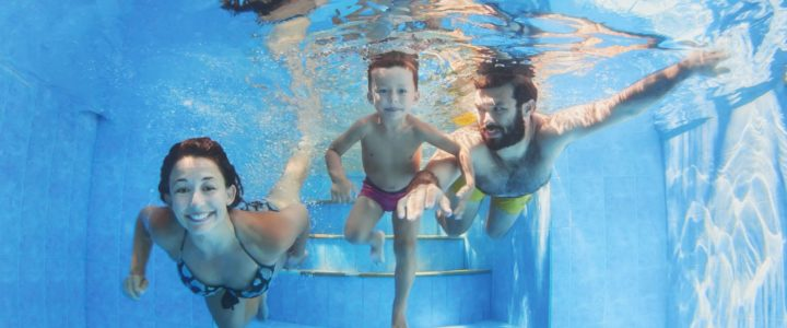 Swimming is the best family activity